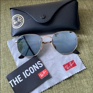 Ray Ban Hexagonal Grey Flash Sunglasses
